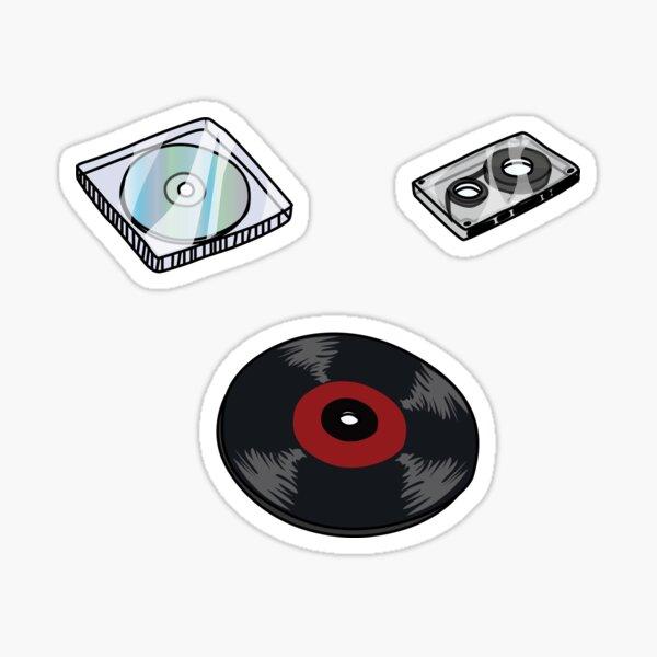 casetes de discos cds Pegatina