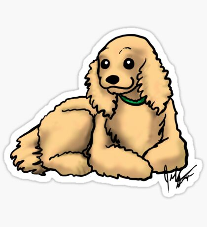 Cocker Spaniel Glossy Sticker
