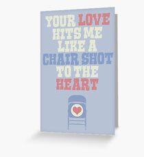 Chair Shot Greeting Card