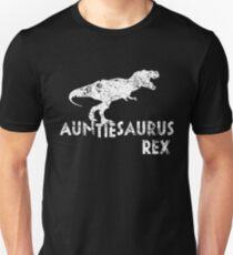 Auntiesaurus Rex, Funny Aunt Dinosaur Gift Unisex T-Shirt