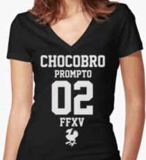 Chocobro - Prompto Women's Fitted V-Neck T-Shirt
