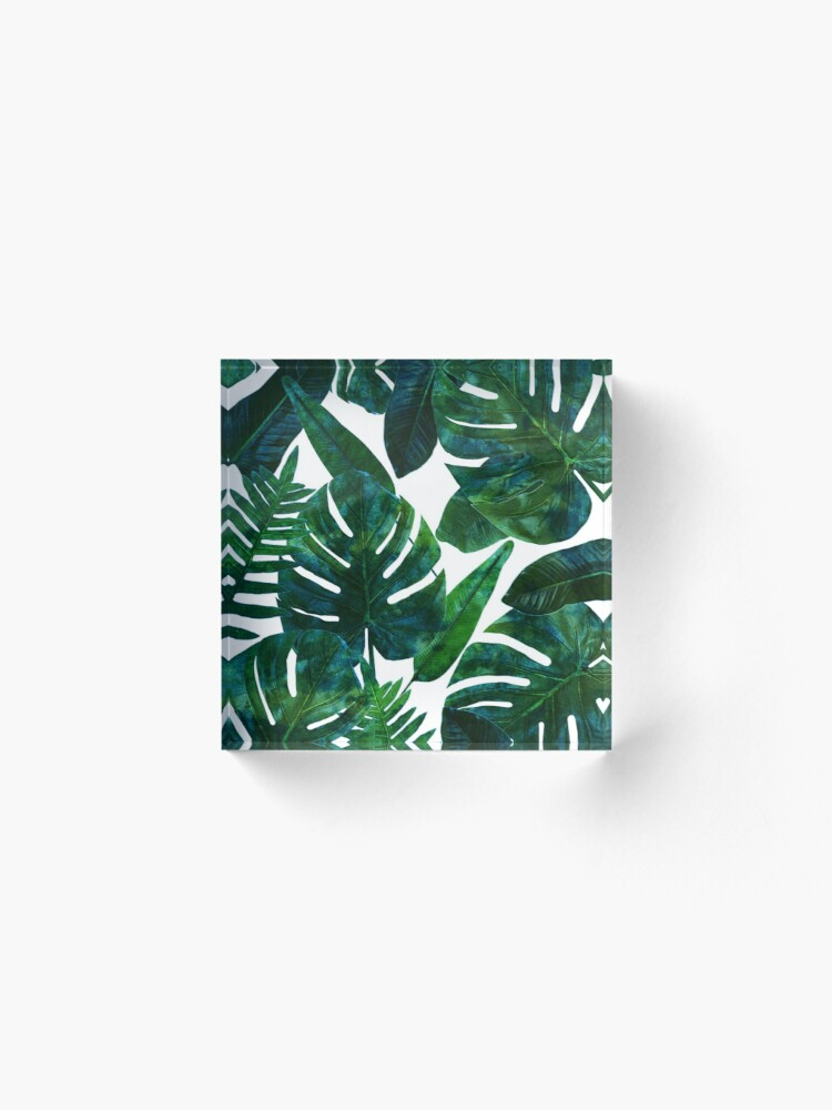 Alternate view of Perceptive Dream || #Redbubble #tropical #buyart Acrylic Block