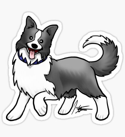 Border Collie Glossy Sticker