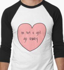 not a girl Men's Baseball ¾ T-Shirt