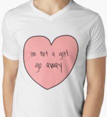not a girl Men's V-Neck T-Shirt