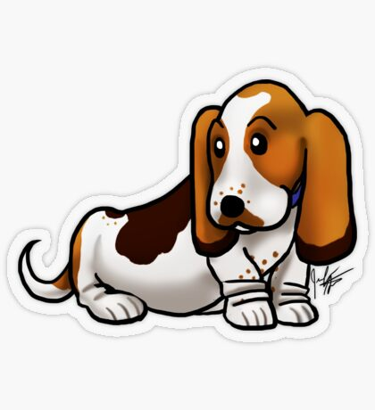 Basset Hound Transparent Sticker