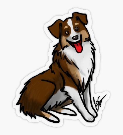 Australian Shepherd - Tri Color Transparent Sticker