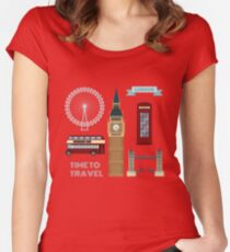 London Symbols Travel Time Set Women's Fitted Scoop T-Shirt
