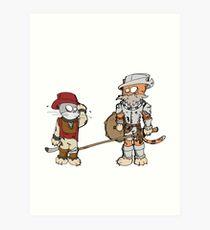 Don Quichat Art Print