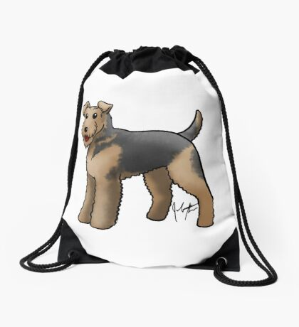 Airedale  Drawstring Bag