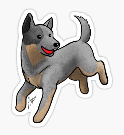 Australian Cattle Dog/ Blue Heeler Glossy Sticker