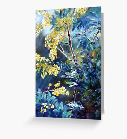 Cootamundra Wattle Greeting Card