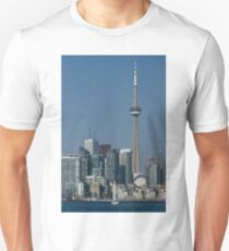 Up Close and Personal - CN Tower, Toronto Harbor and the City Skyline From a Boat T-Shirt