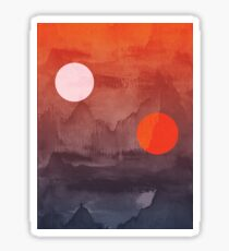 Star Wars A New Hope inspired artwork two suns Sticker