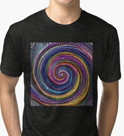 The Frozen Universe #DeepDream #Art Tri-blend T-Shirt