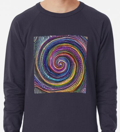 The Frozen Universe #DeepDream #Art Lightweight Sweatshirt