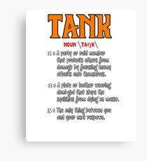 Define: Tank Canvas Print