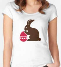 Easter bunny egg Women's Fitted Scoop T-Shirt