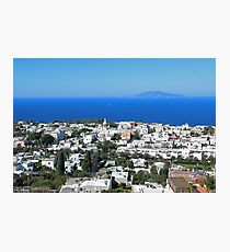 Capri island, Tyrrhenian Sea off the Sorrentine Peninsula Photographic Print