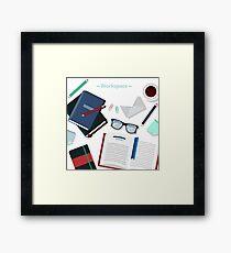 Modern Business Office Workspace Framed Print