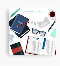 Modern Business Office Workspace Canvas Print