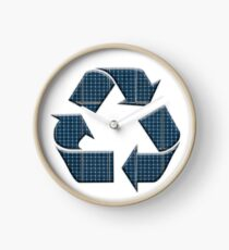 Solar recycling Clock