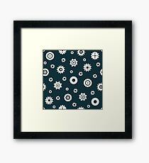 Industrial pattern. Gears Framed Print