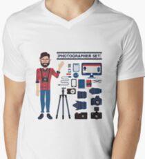 Professional Photographer Set - Cameras, Lenses and Photo Equipment T-Shirt