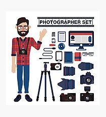 Professional Photographer Set - Cameras, Lenses and Photo Equipment Photographic Print