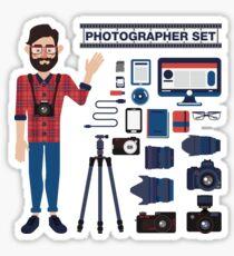 Professional Photographer Set - Cameras, Lenses and Photo Equipment Sticker