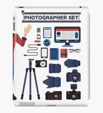 Professional Photographer Set - Cameras, Lenses and Photo Equipment iPad Case/Skin