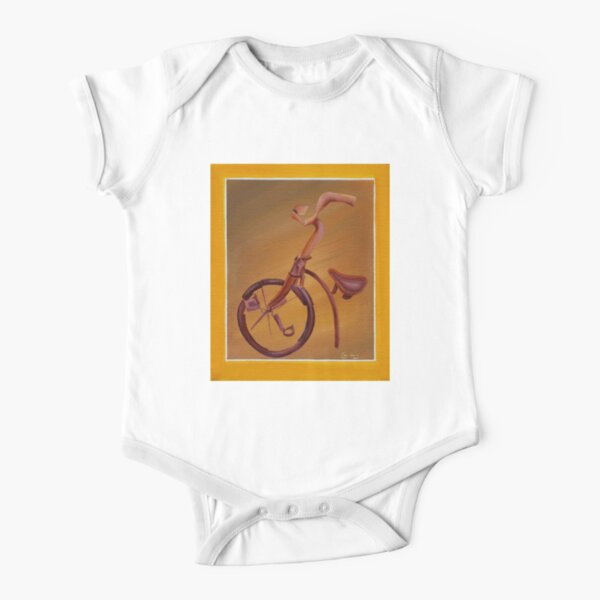 Bicycle Short Sleeve Baby One-Piece