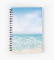 Water waves of sea and ocean Spiral Notebook
