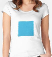 A patch of Beeliar Blue Women's Fitted Scoop T-Shirt