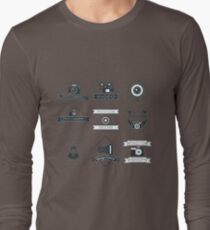 Vector Set of Photography Badges Long Sleeve T-Shirt