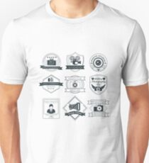 Vector Set of Photography Badges Unisex T-Shirt