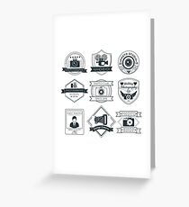 Vector Set of Photography Badges Greeting Card
