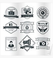 Vector Set of Photography Badges Poster