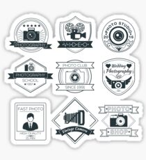Vector Set of Photography Badges Sticker
