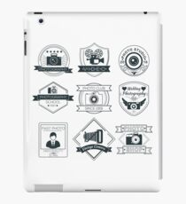 Vector Set of Photography Badges iPad Case/Skin