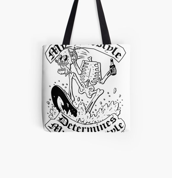 My Lifestyle Determines My Deathstyle All Over Print Tote Bag