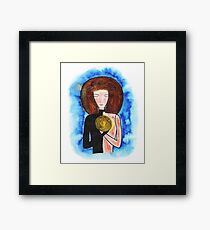 Woman's portrait Framed Print