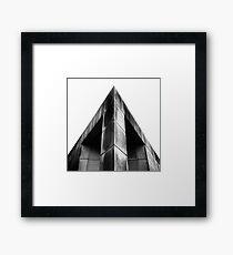 BRUTALIST CORNER Framed Print
