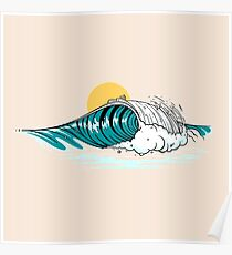 Balinese Wave Poster