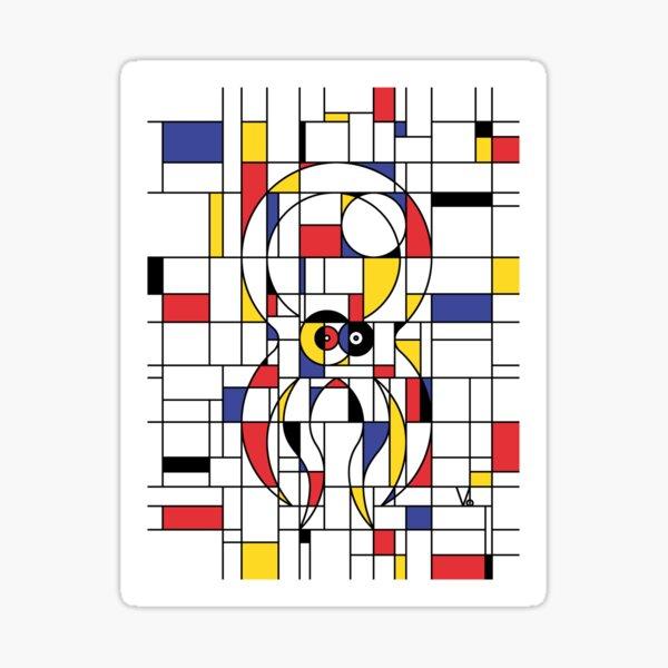 Octopiet Mondrian Sticker