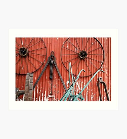 Wall of Wheels Art Print