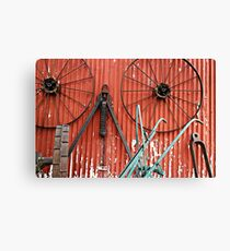 Wall of Wheels Canvas Print