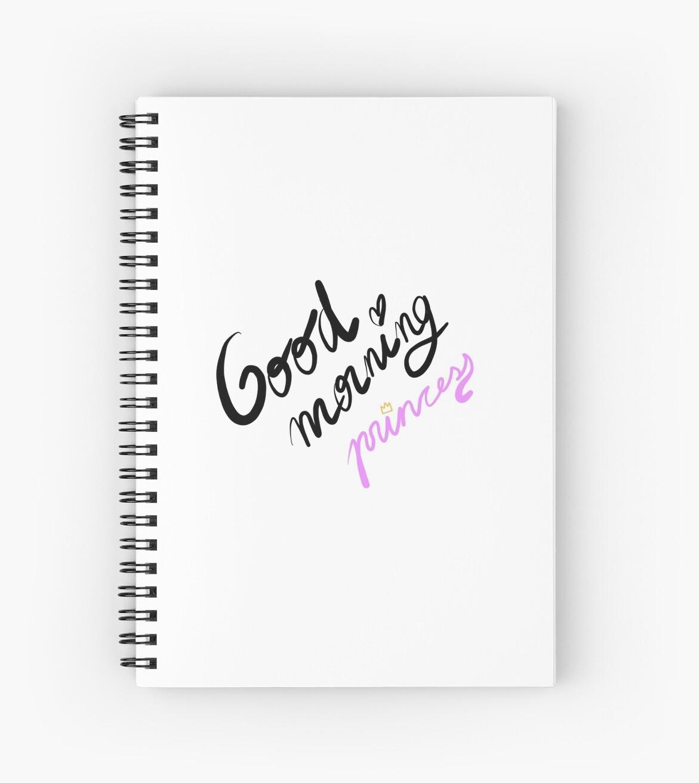 Good Morning Princess Spiral Notebooks By Paula Giménez Zaragozá