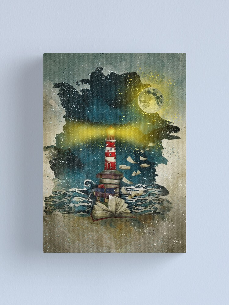 Alternate view of The sea is poetry Canvas Print