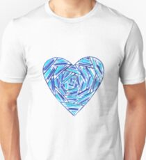 Striped hand drawn heart Unisex T-Shirt